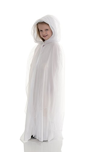 UNDERWRAPS 26151 OS Children's White Tulle Cape - One Size Costume Accessory