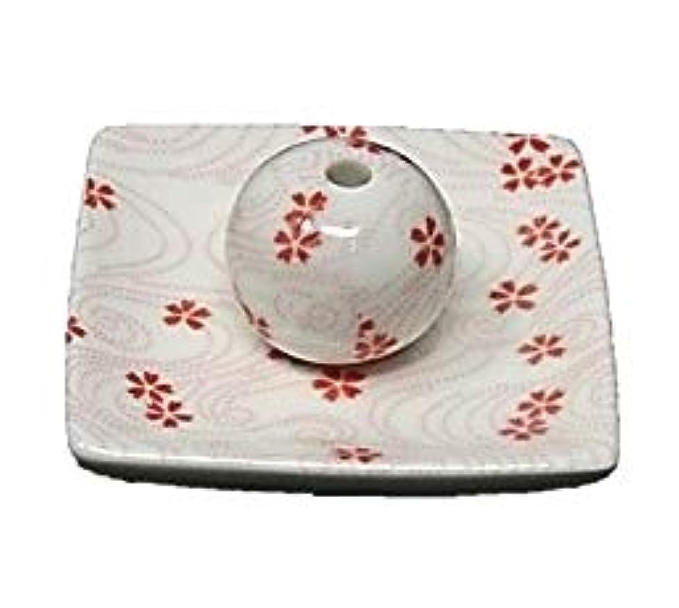 桜渦 小角皿 お香立て 陶器 お香たて 製造直売 桜 さくら ACSWEBSHOPオリジナル