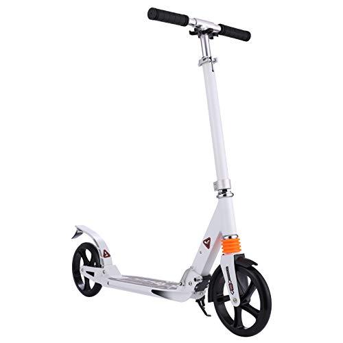BigWheel 200 - Patinete plegable para ciudad, altura ajustable, adecuado para niños y adultos mayores de 8 años, color blanco