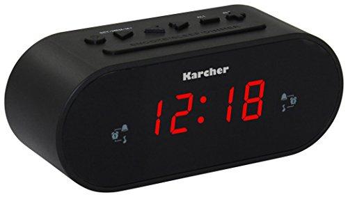 Karcher UR 1030 Uhrenradio (PLL-Radio, dimmbares Display, Dual-Alarm) schwarz, Standard