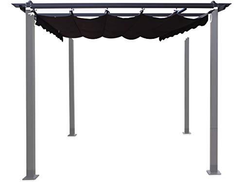 habitatetjardin Tela para la pergola Monica - 3 x 3 m - Gris