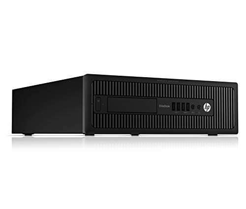 HP EliteDesk 800 G1 SFF Black Desktop PC, Intel Quad Core i5-4570 3.20GHz, 8GB RAM, 1TB HDD with Windows 10 Pro (Certified Refurbished)