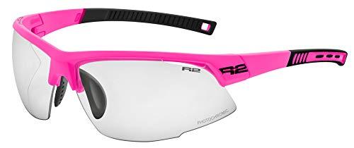 R&R Gafas de sol multideporte Racer | Gafas de sol | Gafas de correr con cristales intercambiables o fotocromáticas (rosa, fotocromáticas)