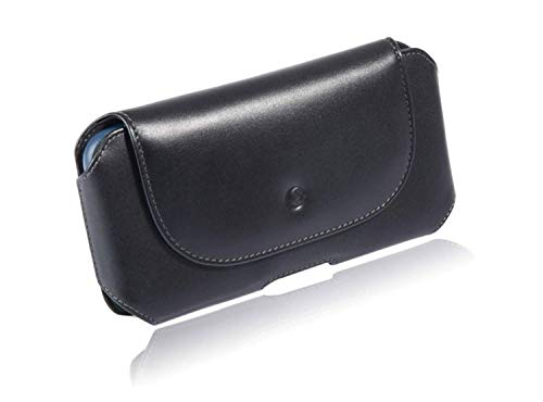 """monsoon [Mohawk] Genuine Leather Case Holster with Belt Clip for for iPhone 12 / iPhone 12 PRO / iPhone 11 / XR - fits 6.1"""" iPhone with Slim-Medium Case"""