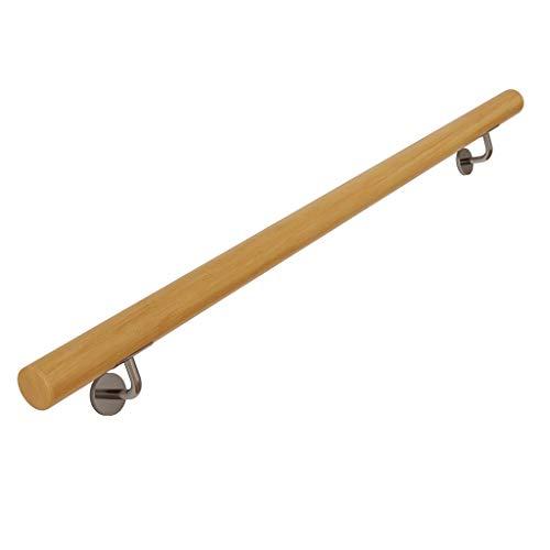 16LYP - Juego completo de barandillas para escaleras de madera maciza, pasillo de protección contra la pared, mango de viejo hombre, villa dúplex para edificios infantiles, 150 cm