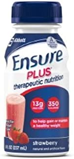 Ensure Plus - Strawberries and Cream, 8 Fluid oz Bottle (24/Case)