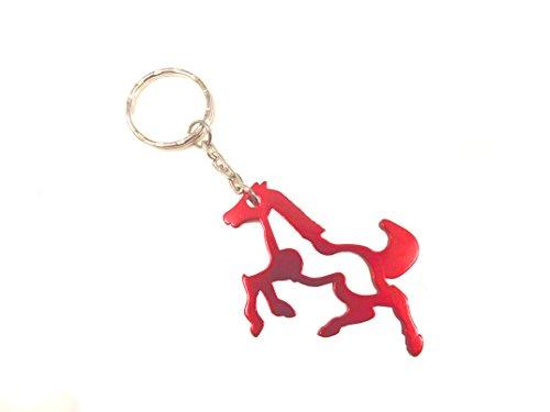 Unbekannt Métal Porte-clés Cheval avec Fonction Décapsuleur