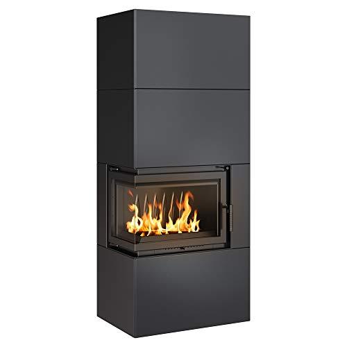 KRATKI Kaminofen Simple Box Komplettset   Gewicht 328 kg, Maße in cm: H187,40 x B78,70 x T54,70   Brennstoff: Holz, Nennwärmeleistung 8 kW, für Raumfläche bis zu 140 m2, Energieeffizienzklasse A