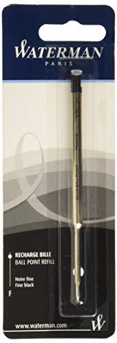 Waterman Ricarica per Penna a Sfera, Punta Fine con Inchiostro Nero, 1 Pezzo