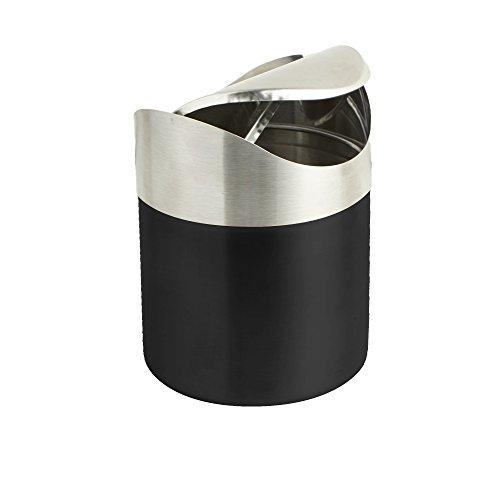 Mind Reader - Cubo de basura con tapa, pequeño escritorio, reciclaje, cocina, escritorio, baño, oficina, cesto de basura de 1,5 l/0,40 galones
