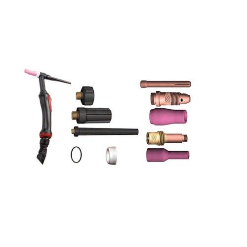 Lincoln Electric K10529-17-4V Antorchas Tig, LTP 17 GV, Gas, 140A-DC/100A-AC@35%, 4m, Válvula Manual, Conector 35-50 mm²