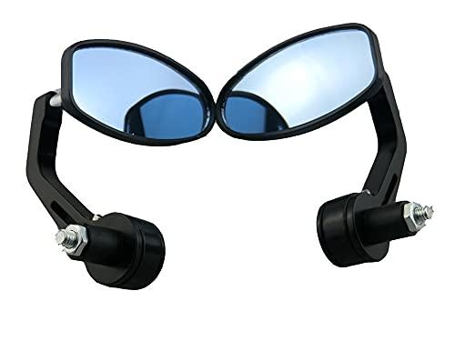 YBMY EVOMOSA Black 7/8'HANDERBAR Antero Espejos OVALES COMODIDOS CLÁSICO Lado Lado Chopper Bobber Cafe Racer ATV Quad TRASTVIEVIE Espejos (Color : One Pair)
