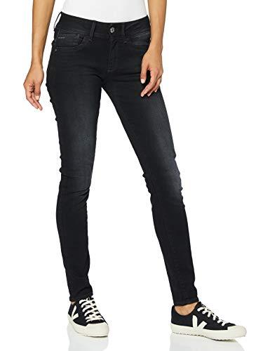 G-STAR RAW Damen Jeans Lynn Mid Waist Skinny Jeans, Grau (Dusty Grey), 25W / 32L