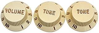 Fender® Stratocaster® Guitar Knobs, Aged White (1 Volume, 2 Tone)