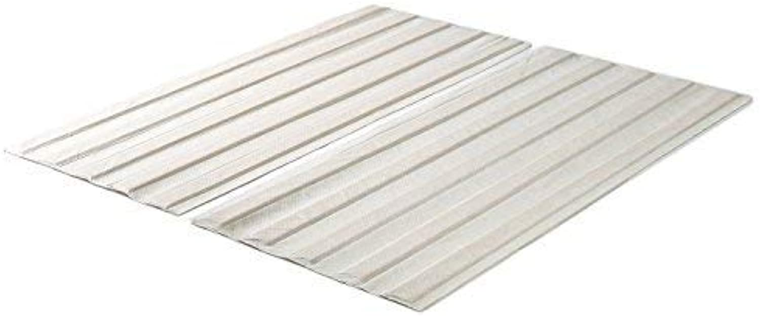 Zinus Solid Wood Bed Support Slats Fabric-Covered Bunkie Board, Full