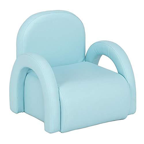 WZRY Sillón para niños, Sofá de cuero de la PU, Muebles para niños de la silla del niño, Sillón de sofá de los niños, Estilo de la princesa, Azul cielo