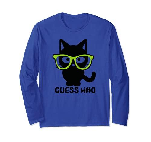 Guess Who - Gafas de máscara para gato Manga Larga