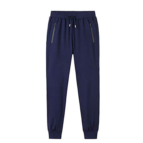 Pantalones deportivos para hombres, pantalones casuales para hombres, otoño e invierno rectos de algodón puro más pantalones de protección de talla grande, pantalones largos deportivos para hombres