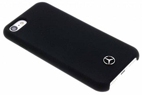 Mercedes-Benz Silicon Cover mit Mikrofaserfutter Schwarz, Liquid, für iPhone 8/7 / 6s / 6, MEHCP7SILBK, Black