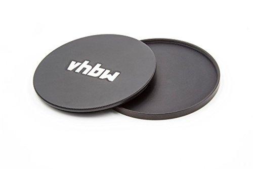 vhbw Set de Tapas de Objetivos 72mm de Metal Negras para cámaras Canon EF-S 15-85mm 3, 5-5, 6 IS USM