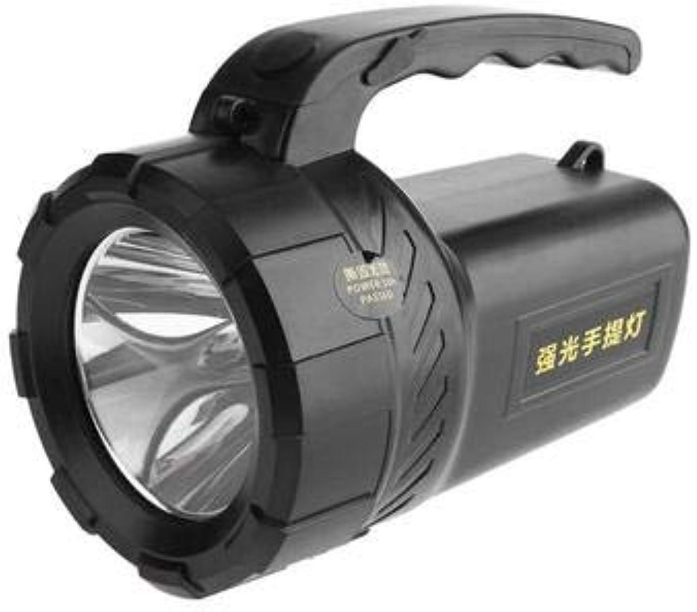 Fay Wiederaufladbare LED-Taschenlampe, tragbarer Scheinwerfer-Scheinwerfer, eingebaute 5000 wiederaufladbare Lithium-Batterie, geeignet für Reisen Camping Jagd