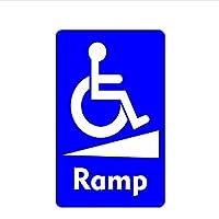 車のステッカー BY WYZDGTD 車椅子ランプ通知サイン無効ステッカースタイリングデカールバンパーウィンドウラップトップビニールインテリア2個15X9センチ