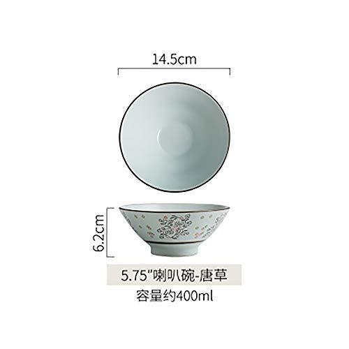 LLDKA Ciotola di Ceramica Creativa Giapponese tagliatelle Ciotola di Instant Noodles zuppiera Grande Ciotola Ristorante Studenti Ciotola casa,1