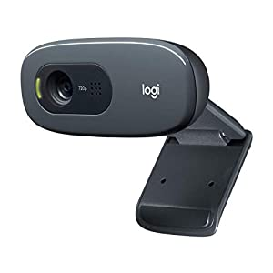 Logitech C270 Webcam HD, 720p/30fps, Video Llamadaso HD Amplio Campo Visual, Corrección de Iluminación, Micrófono Reductor de Ruido, Skype, FaceTime, Hangouts, WebEx, PC/Mac/Portátil/Macbook/Tablet