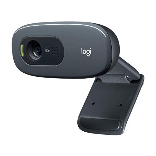 Logitech C270 Webcam HD, 720p/30fps, Video Llamadaso HD Amplio Campo Visual, Corrección de Iluminación, Micrófono Reductor...