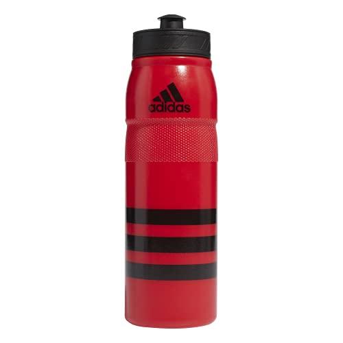 adidas Stadium 750 ML (26oz) Plastic Water Bottle,Scarlet/Black,ONE Size