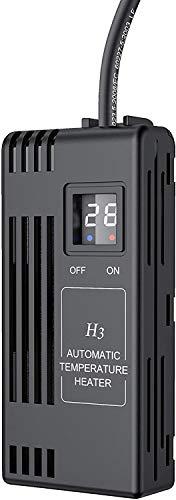 NICREW Calentador 50W Ajustable para Acuario, Calentador Sumergible para Acuario Pequeño y Tortugas, Calentador con LED Digital para Pecera