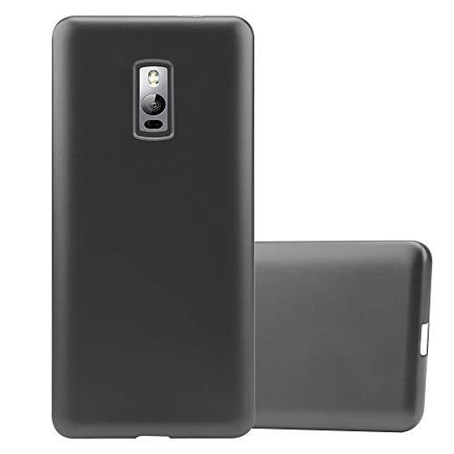 Cadorabo Hülle für OnePlus 2 in METALLIC GRAU - Handyhülle aus flexiblem TPU Silikon - Silikonhülle Schutzhülle Ultra Slim Soft Back Cover Case Bumper