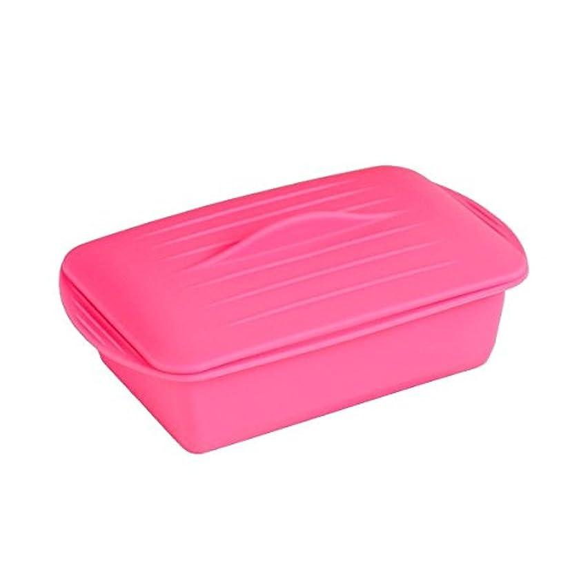 ペインギリック放つ信頼性のある電子レンジ調理器 シリコンケース 角型 ピンク