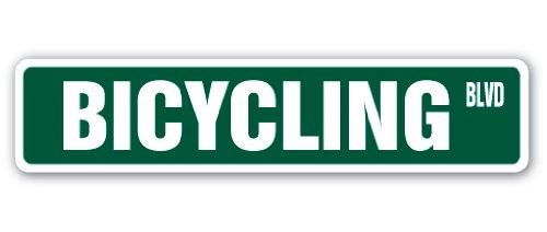 Bicycling Street Sign Bike Road Biking Mountain Bike | Indoor/Outdoor | 24' Wide