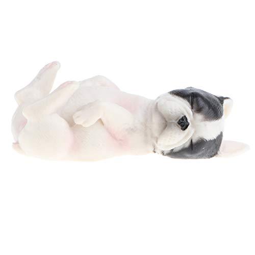 FLAMEER Miniatur Bulldogge Dekofigur Modell Tier Gartenfigur Gartenmodell, Geschenk und Wohnkultur