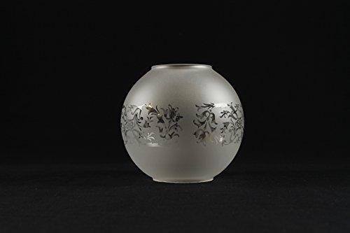 Glas-plastik-ersatzteil für petroleumlampe - Ø base-5,8 cm - 13 cm