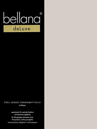 Bellana® Deluxe Spannbetttuch für Wasserbetten und Boxspringbetten, 180-200 x 200-220 cm, Taupe