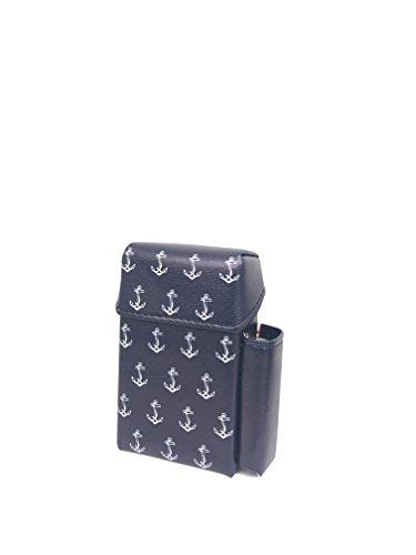 Zigarettenetui Ciggyjumper Maritime Collection mit Feuerzeughalter (20 Zigaretten), Überzug, Zigarettenhülle für Zigarettenschachtel in Standardgröße, Zigarettenbox (Anchor Blue Lighter)