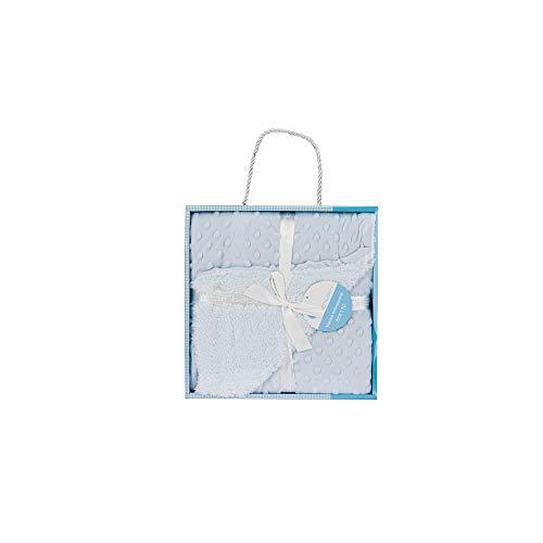 Interbaby 00891-01 - Manta Burbujas con Borreguillo para Bebés en Color Azul, unisex