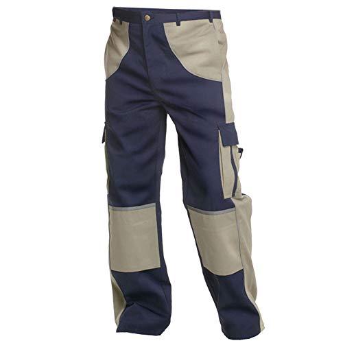 Charlie Barato Arbeitshose Herren Premium Line blau/beige - Bundhose für Handwerker … (52)