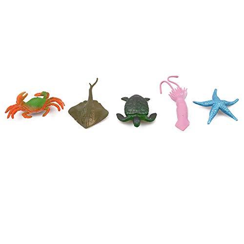Kaned Figuras de Animales Marinos Juguetes educativos para niños Juguetes de Aprendizaje de Animales Juguetes de baño para niños