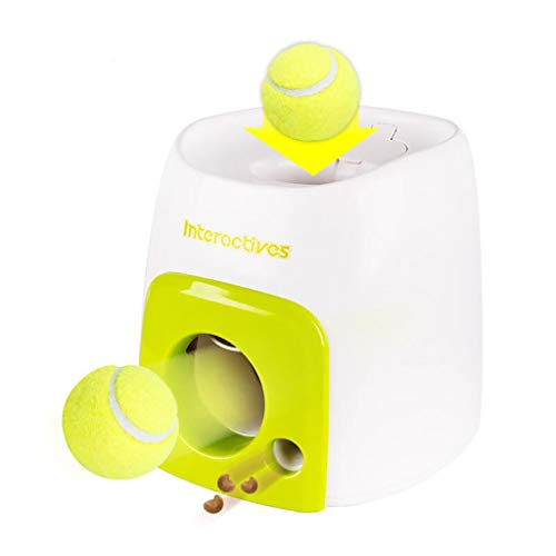 CreazyBee Dispensers Pet Dog Toy,Pet Tennis Ball Launcher Toy,Automatic Dog Ball Launcher Dog Ball Throwing Toy Interactive Pet Toy Tennis Ball Throwing Machine for Dog Training (Multicolor)