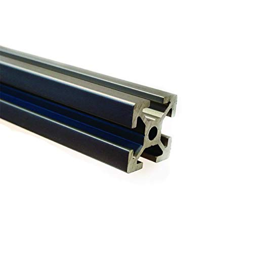 Silver Aluminum Extrusion 48' (1220 mm) Clear Anodize Misumi Series 5 (20mm x 20mm) - 4 Pack