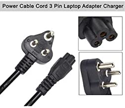 JGD PRODUCTS 4.5 Feet 3 Pin Laptop Power Cable Cord for Charger Adapter (1.5 M)