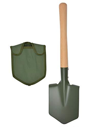 A.Blöchl Feldspaten mit Holzstiel und Tasche (Oliv)