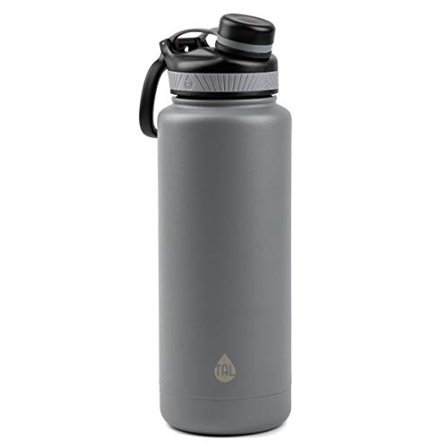 Tal Water Bottle Double Wall Insulated Stainless Steel Ranger Pro - 40oz - Silver