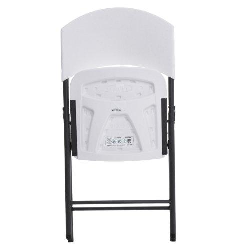 Lifetime 42810 Light Commercial - Silla plegable (4 unidades), color blanco