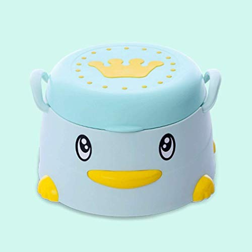 HJJWL Children Potty Training Toilet Seat, Boys and Girls Potty Chair with Cover and Easy-to-Clean Non-Slip Potty Training Toilet with Armrests and Non-Slip Feet