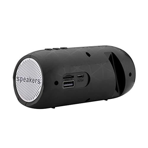 Xbeast Bluetooth-Lautsprecher Tragbare HiFi-Stereo-Soundleiste TF FM-Radio Subwoofer-Säulenlautsprecher Wiederaufladbare Lautsprecher, 3,5-mm-Audioeingang (Schwarz)