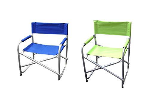 Mazzeo Regiestuhl aus Aluminium, 55 x 45 x 80 cm, 2 Farben
